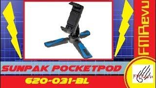 $12.00 SUNPAK PocketPod 620-031-BL Compact Smart Phone Tripod | Budget Phone Holder | FMRevu