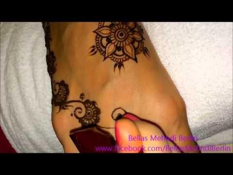 cute feet mehndi design tutorial by bellas mehndi