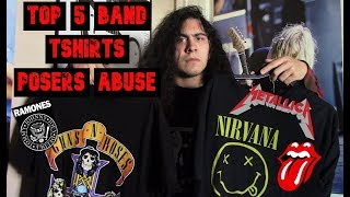 Top 5 Metal/Rock Band T-shirts Every Poser Wears