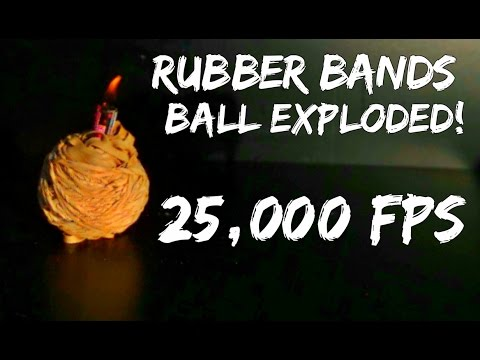 A Firecracker Exploding A Rubber Band Ball In Slow Motion Is The Best