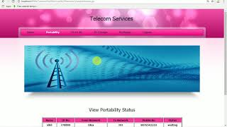 Telecom Services Project in Java