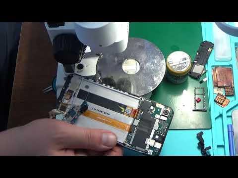 Asus ZA550KL (Zenfone Live L1) после попадания воды. Не работает тачскрин. Asus ZA550KL after water