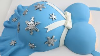 Pregnant Belly CAKE ❄ BABY Its COLD Outside!