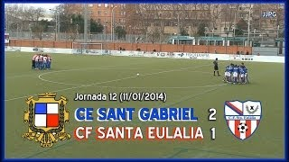 preview picture of video '2013-14 Cadete Preferente - J12 - CE Sant Gabriel - CF Santa Eulalia  2-1'