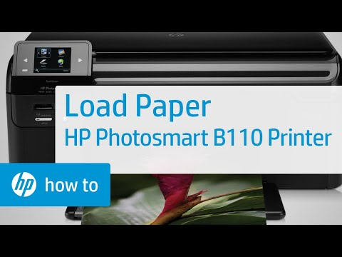 How to Load Paper into the HP Photosmart B110 Printer