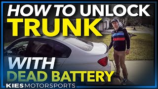 How to Open a Trunk and Jump Start a BMW with a Dead Battery Featuring the NOCO GB 40 Jump Starter!)