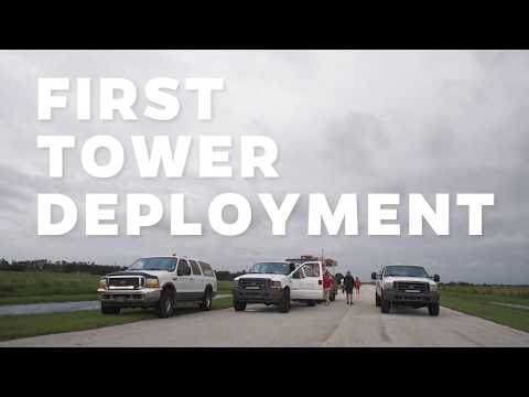 Tower Deployment - UF Hurricane Research team in Naples, Florida