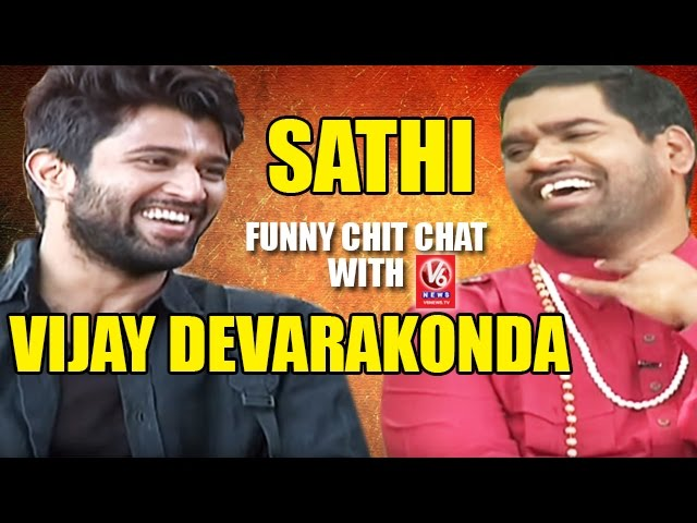 Bithiri Sathi Funny Chit Chat With Vijay Devarakonda   Teenmaar News