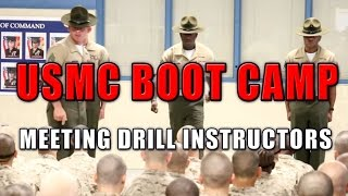 Marine Corps Boot Camp - Meeting Drill Instructors