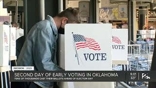 Second day of early voting in Oklahoma