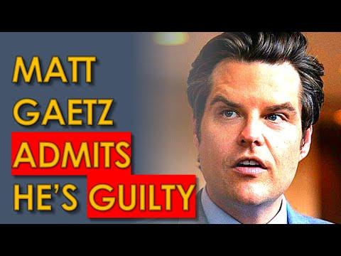 Matt Gaetz Accidentally ADMITS He's GUILTY