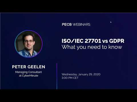 ISO/IEC 27701 vs GDPR: What you need to know - YouTube