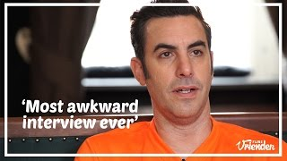 Sacha Baron Cohen most awkward interview ever