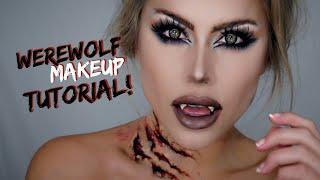 Werewolf makeup tutorial Halloween 2018 | beeisforbeeauty