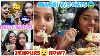 We only ate Healthy v/s Unhealthy food for 24 hours Challenge😨| gopsvlogs ft thebrowndaughter