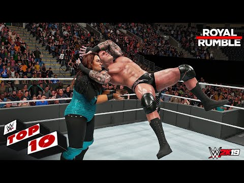 WWE 2K19 - Top 10 Royal Rumble 2019 Moments!