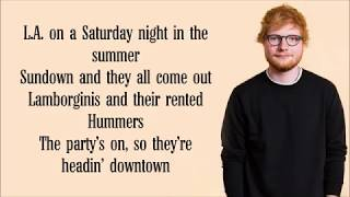 Ed Sheeran   Beautiful People Lyrics FT Khalid