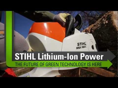 Stihl MSA 160 C-BQ Chainsaw in Ruckersville, Virginia - Video 1