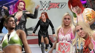 WWE 2K17 Daytime Arena Gameplay - 6 Woman Ladder Match!