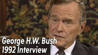 George H.W. Bush 1992 Interview with ABC13's Dave Ward