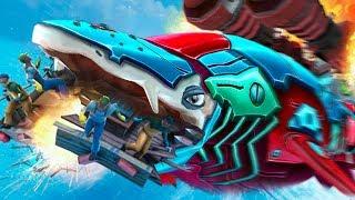 FLYING GIANT ROBOT WHALE SHARK! - Hungry Shark World - Part 6 | Pungence