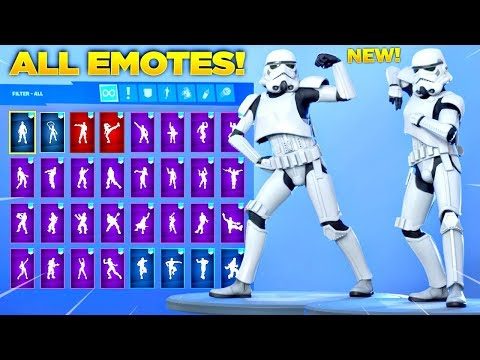 *NEW* IMPERIAL STORMTROOPER SKIN Showcase with All Fortnite Dances & Emotes! (Star Wars Skin)
