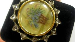 Antique Gold Diamond Brooch
