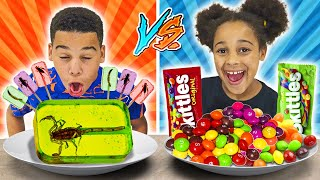 GROSS CANDY vs REAL CANDY Challenge   FamousTubeFamily