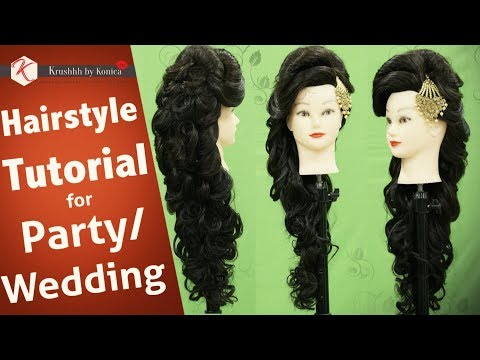 Hair Style Tutorial Video For Wedding Step By Step Party Hairstyle