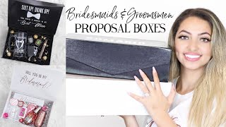 BRIDESMAIDS AND GROOMSMEN PROPOSAL BOXES | DIY & Personalized Gift Ideas
