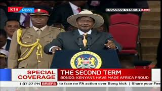 Ugandan President, Yoweri Museveni's remarks during Uhuru's inauguration ceremony