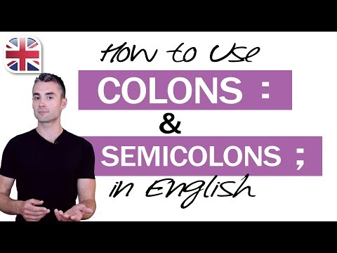 How to Use Colons and Semicolons in English - English Writing Lesson