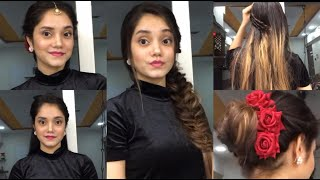 3 Easy Quick Hairstyles|| Indian Wedding Guests Hairstyles Tutorial|| Hairstyles For Festive Season