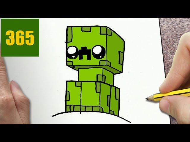 Video Come Disegnare Creeper Minecraft Kawaii Passo Dopo Passo