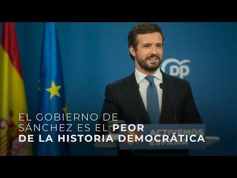El Gobierno de Sánchez es el peor de la historia de democrática