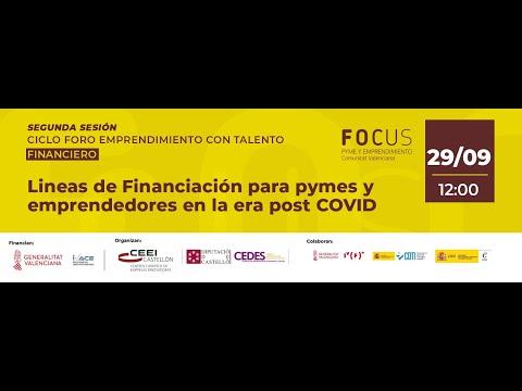 Sesión sobre líneas de financiación para pymes y emprendedores en la era post COVID[;;;][;;;]