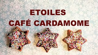 Biscuits de fêtes #3, café et cardamome