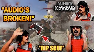 DrDisrespect BREAKS & THROWS his Scuf Controller in RAGE at COD Modern Warfare's BAD Audio! (Beta)