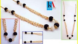 How to make Designer party wear Silk Thread necklace // DIY // Rich and Elegent silk thread necklace