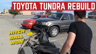 My Girlfriend WRECKED Her Toyota Tundra *We REBUILD It*