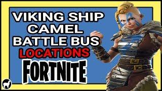 Fortnite Challenge Visit A Viking Ship A Camel And A Crashed Battle