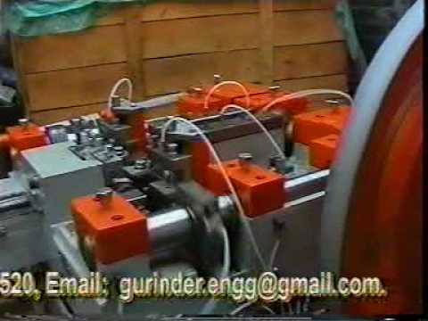 Washed Head Roofing Nail Making Machine