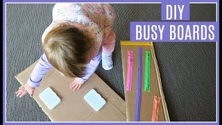TODDLER ACTIVITIES AT HOME : DIY BUSY ACTIVITY BOARDS / SENSORY BOARDS