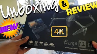 Unboxing, Test Terbang Pemula Mainan Baru - Drone MJX BUGS 12 EIS Unboxing and first flight test