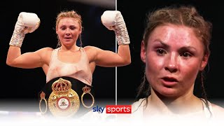 POST FIGHT! Shannon Courtenay's emotional reaction after beating Ebanie Bridges to win a world title