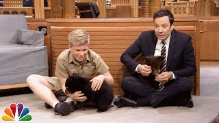 Download Youtube: Robert Irwin and Jimmy Play with Baby Black Bears