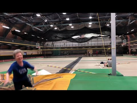 """Florence """"Flo"""" Filion Meiler, an 84-year-old competitive female pole vaulter, is headed to the world competition in Poland this week, where she'll be the only one in her age group for pole vaulting. (March 22)"""