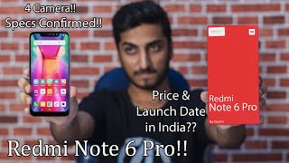 Redmi Note 6 Pro - Price & Launch Date in India?? Full Specifications Leaked Online!!