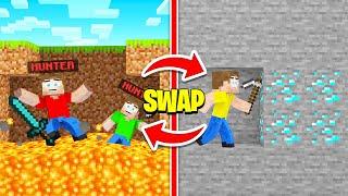 HUNTERS SWAP PLACE With SPEEDRUNNER! (Minecraft)