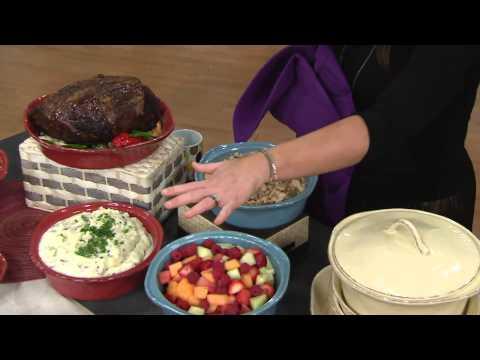Rachael Ray Cucina 5-Piece Stoneware Baker Set with Carolyn Gracie